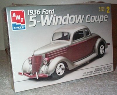 '36 Ford 5-Wd Coupe 3'n 1 Model Kit
