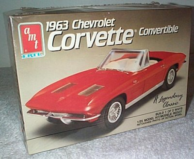 '63 Chevy Corvette Convertible Model Kit