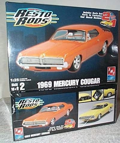 '69 Mercury Cougar Resto Rods Model Kit