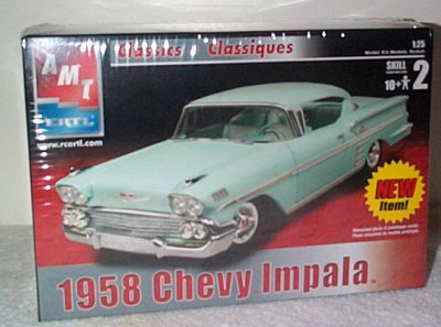 '58 Chevrolet Impala 2 Door Hardtop Model Kit