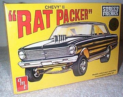 Rat Packer Chevy II AWB Drag Car Model
