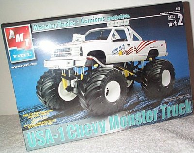 USA-1 Chevy Monster Truck Model Kit