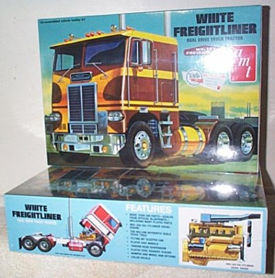 White Freightliner Dual Drive Tractor