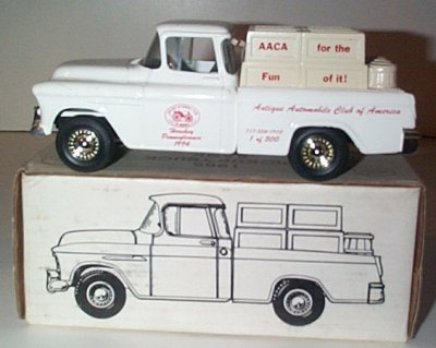 AACA '55 Chevy Cameo Pickup Truck Bank