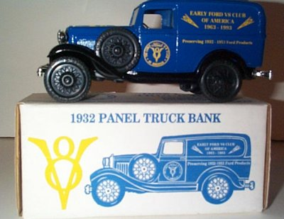 Early Ford V-8 Club '32 Fortd Panel Truck Bank