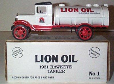 Lion Oil 1931 Hawkeye Tanker Bank Issue # 1