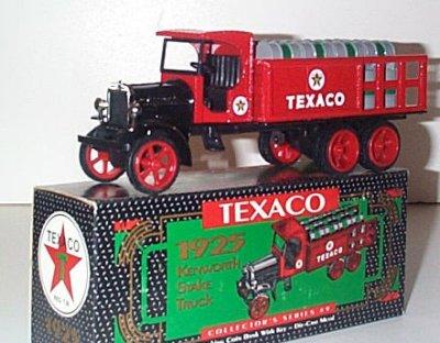 Texaco '25 Kenworth Stake Truck w/Barrels # 9