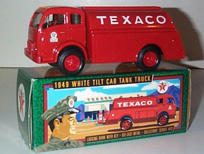 Texaco '49 White 3000 Tilt Cab Bank Issue # 13