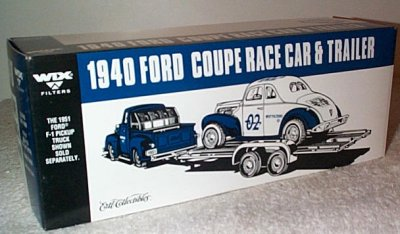 '40 Ford Stock Car w/Trailer Wix #2