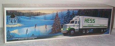 '87 Hess Gasoline Tractor Trailer  w/Barrels