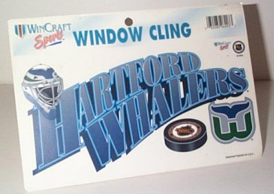 Hartford Whalers Window Cling