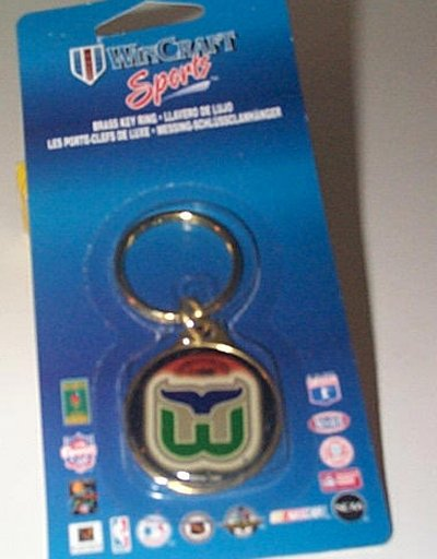 Hartford Whalers Brass Key Ring