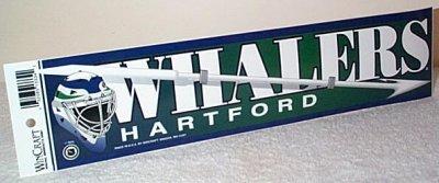 Hartford Whalers Bumper Sticker