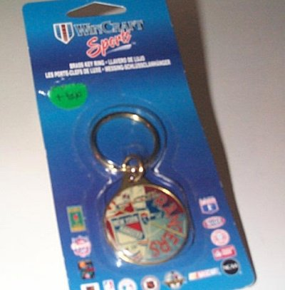 New York Rangers Collector's Brass Key Ring