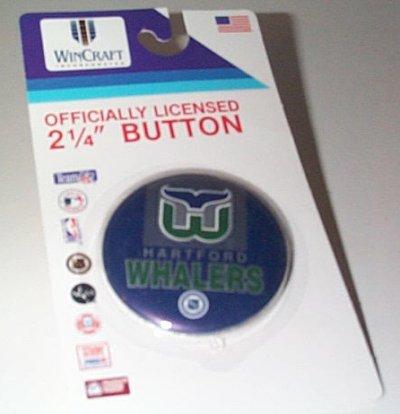 Hartford Whalers 2 1/4 Inch Round Button