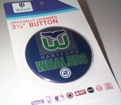 Hartford Whalers 3 1/2 Inch Round Button