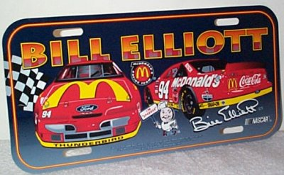 Bill Elliott McDonald's T-Bird Vanity Plate