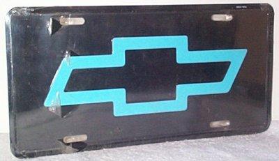 Chevrolet Bow-Tie Metal Vanity Plate