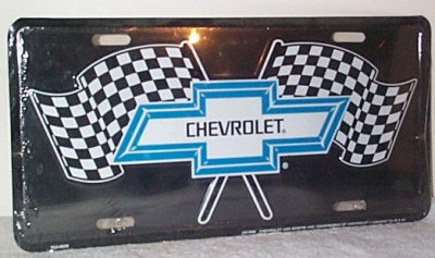 Chevrolet Bow-Tie w/Flags Vanity Plate