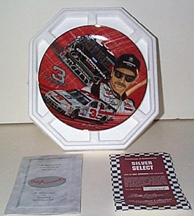 Dale Earnhardt Silver Select Collector's Plate