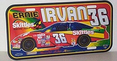 Ernie Irvan Skittles Racing Team Pontiac Plate