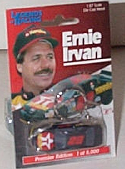 Ernie Irvan Tex/Hav Key Ring w/Car
