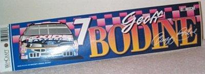 Geoff Bodine Exide Batteries Bumper Sticker