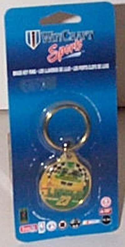 John Deere Motorsports Brass Key Ring