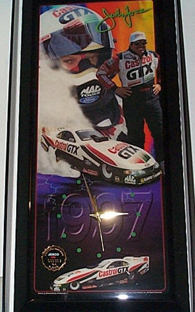 John Force Castrol GTX '97 Jebco Clock
