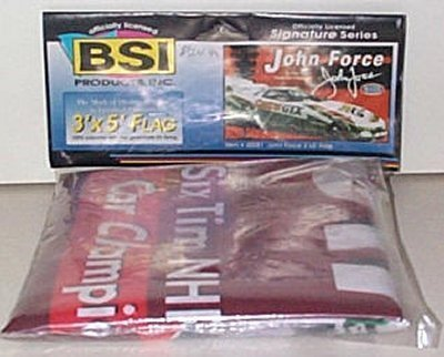 John Force 6-Time Champion  Flag