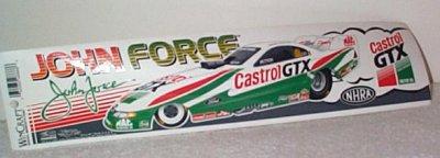 John Force Castol GTX Mustang Bumper Sticker