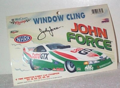 John Force Castrol GTX F/C Window Cling