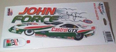 John Force Castrol GTX F/C Race Magnet