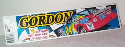 Jeff Gordon Dupont '95 Champion Bumper Sticker