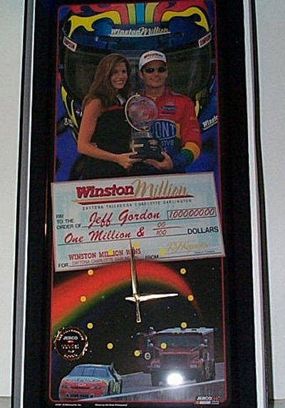 Jeff Gordon Winston Million Jebco Clock