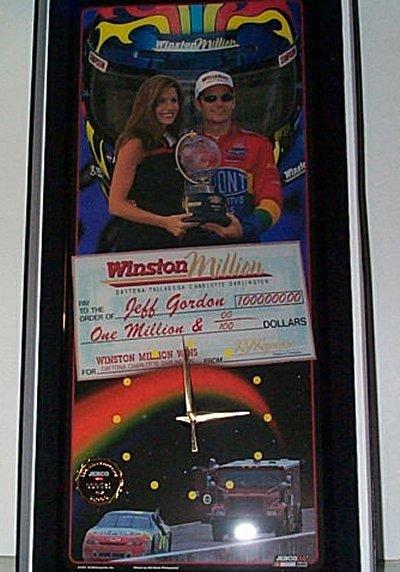 Jeff Gordon Winston Million Jebco Clock