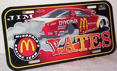 Jim Yates McDonald's Vanity Plate