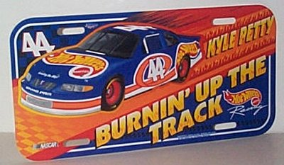 Kyle Petty Hot Wheels Pontiac Vanity Plate