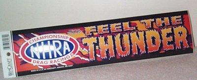 NHRA Feel The Thunder Bumper Sticker