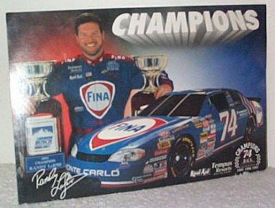 Randy LaJoie Fina '97 Champion Handout