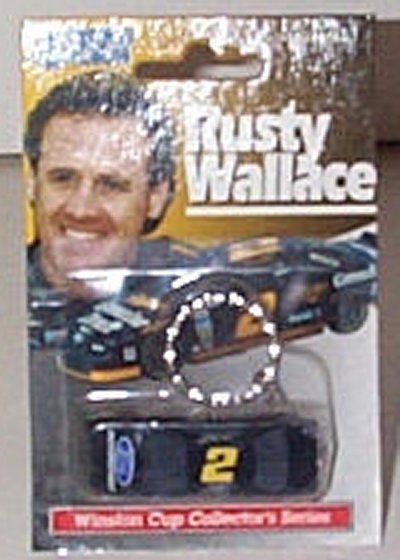 Rusty Wallace Ford M/S Key Ring w/Car