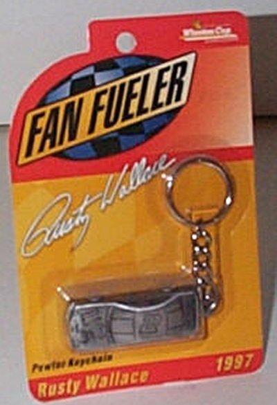 Rusty Wallace Pewter Key Chain w/Car