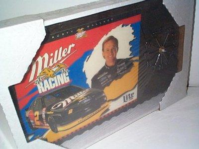 Rusty Wallace Miller Racing Clock