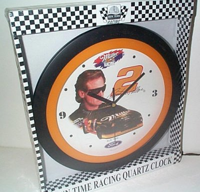 Rusty Wallace Miller Racing Round Clock
