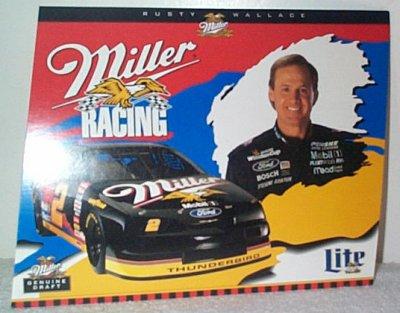 Rusty Wallace Miller Racing Thunderbird Handout