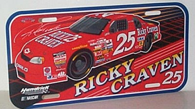 Ricky Craven Monte Carlo Vanity Plate