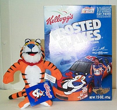 Terry Labonte Frosted Flakes Cereal Box w/Doll