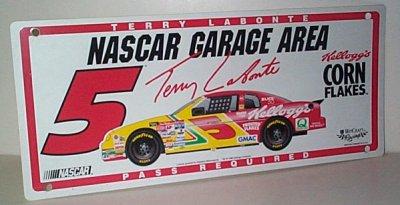 Terry Labonte Kellogg's Garage Area Sign
