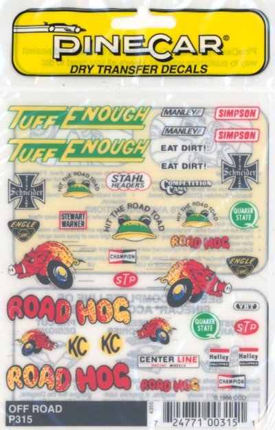 Dry Transfer Decal Set Off Road