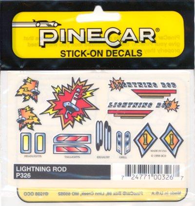Stick-On Decal Set Lightning Rod